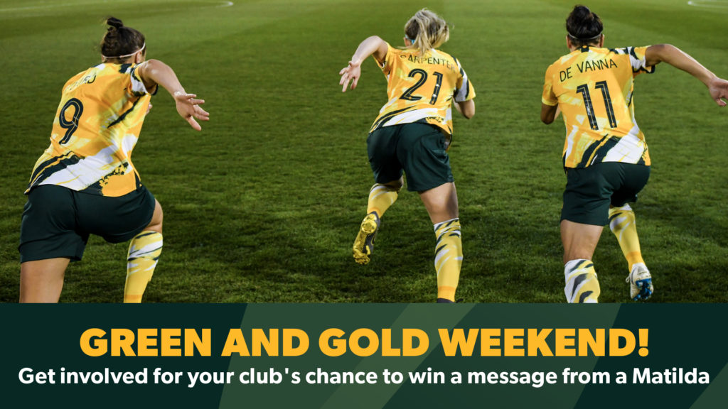 green and gold weekend women's world cup